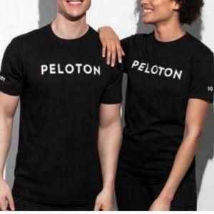 PELOTON 100 Century Short Sleeve Tee Black {VV53}